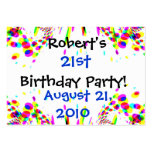 Fun Colorful 21st Party! Card Business Cards