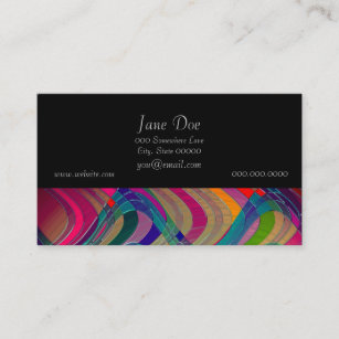 Art business cards 56300 art business card templates fun colorful abstract art design business card colourmoves
