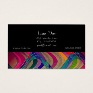 Fun Colorful Abstract Art Design Business Card
