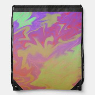 Fun Colorful Abstract Art Cinch Bag
