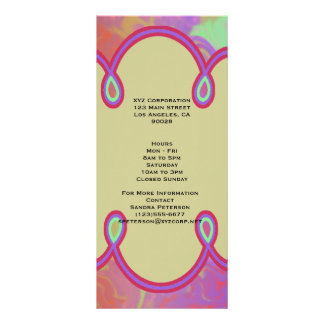 Fun Colorful Abstract Art Rack Card