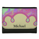 Fun Colorful Abstract Art Wallets For Women