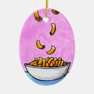 Fun colorful art mac and cheese comfort food ceramic ornament