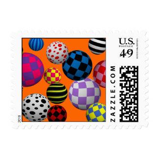 Fun & Colorful Balls Postage
