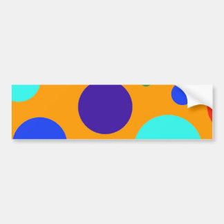 Fun Colorful Big Polka Dots Blue Orange Green Bumper Stickers