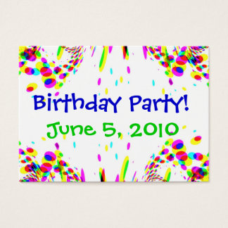 Fun Colorful Birthday Party! Card