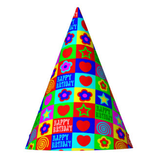 fun colorful birthday party hat