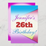 [ Thumbnail: Fun, Colorful Birthday Party Invitation ]