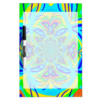 Fun Colorful Butterfly Flower Abstract Fractal Art Dry-Erase Board
