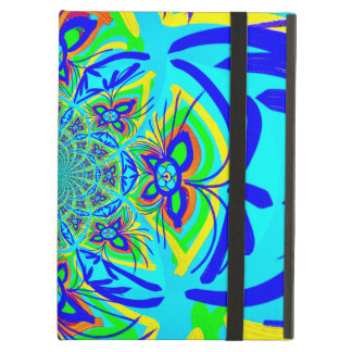 Fun Colorful Butterfly Flower Abstract Fractal Art iPad Air Cover