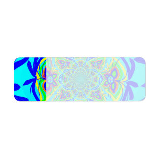 Fun Colorful Butterfly Flower Abstract Fractal Art Return Address Label