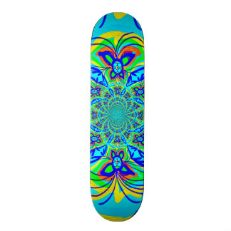 Fun Colorful Butterfly Flower Abstract Fractal Art Custom Skate Board