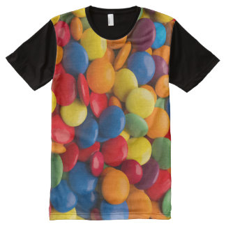 Fun Colorful Candy Theme All-Over Print T-shirt