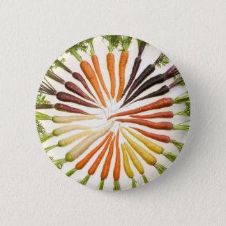 Fun Colorful Carrots Pinback Button