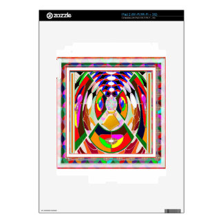 Fun Colorful Cartoon Faces: Graphic Greetings GIFT iPad 2 Decal