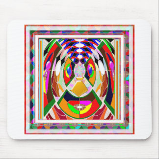 Fun Colorful Cartoon Faces: Graphic Greetings GIFT Mouse Pad