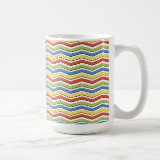 Fun Colorful Chevron Zigzags Blue Green Yellow Red Coffee Mug
