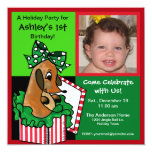 Fun Colorful Christmas Photo Card Personalized Invites