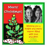 Fun Colorful Christmas Tree Photo Card Custom Announcement