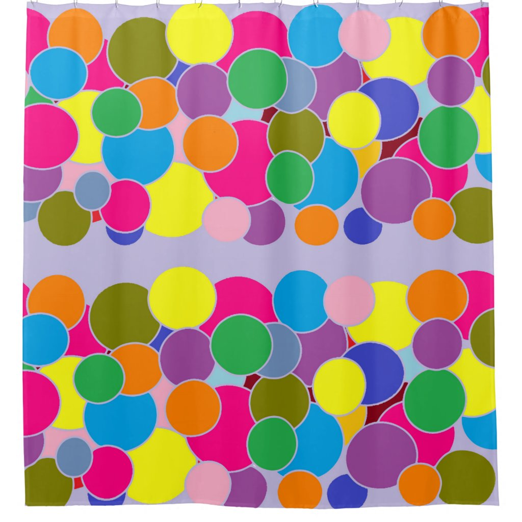 Colorful Circles Design Shower Curtain