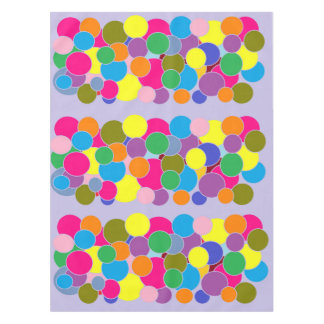 Fun Colorful Circles Design Tablecloth