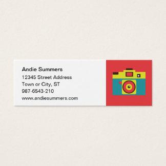 Fun Colorful CMYK Lomo Camera Photographer Mini Business Card