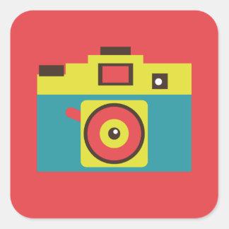 Fun Colorful CMYK Lomo Camera Photographer Square Sticker
