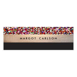 Fun Colorful Confetti Gold Striped Mommy Card