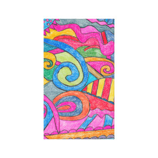 Fun Colorful Design Canvas Stretched Canvas Print