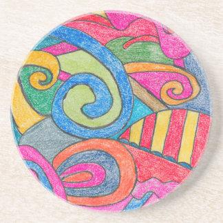 Fun Colorful Design Coaster