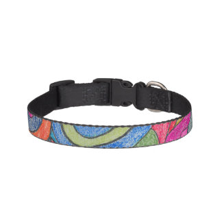 Fun Colorful Design Dog Collar