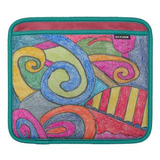 Fun Colorful Design iPad Sleeve