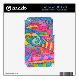 Fun Colorful Design iPod Touch (4th Gen) Skin Skin For iPod Touch 4G