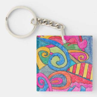 Fun Colorful Design Keychain