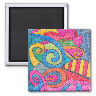 Fun Colorful Design Magnet