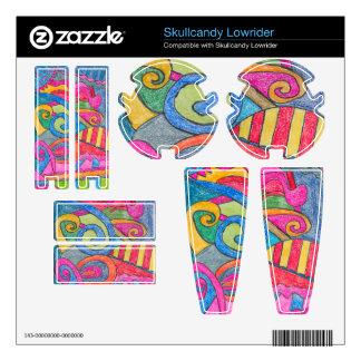 Fun Colorful Design Skullcandy Lowrider Skin