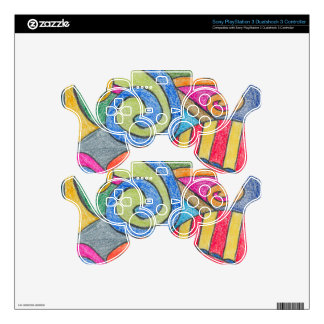 Fun Colorful Design Sony PlayStation 3 Dualshock 3 Skin For PS3 Controller