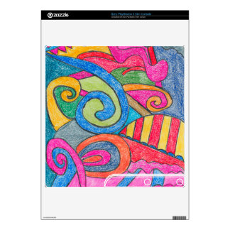 Fun Colorful Design Sony PlayStation 3 Slim Skin Decals For PS3 Slim