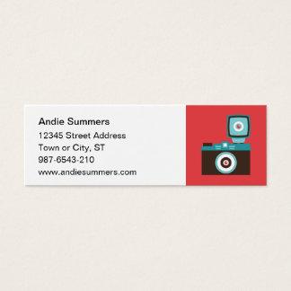 Fun Colorful Diana Lomo Camera Photographer Mini Business Card