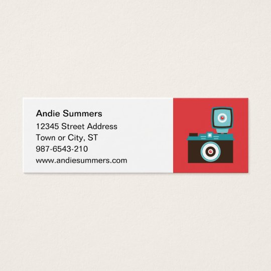 Fun Colorful Diana Lomo Camera Photographer Mini Business Card