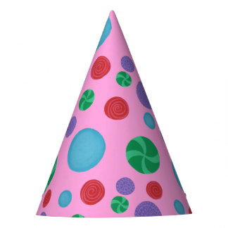 Fun Colorful Dimensional Polka Dots Party Hats