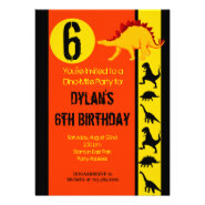 Fun Colorful Dinosaur Birthday Party Invitations