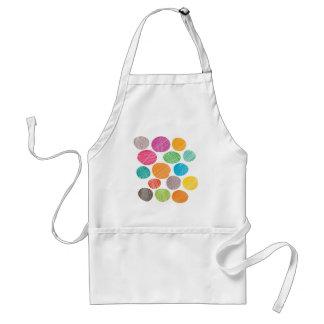 Fun colorful dots adult apron