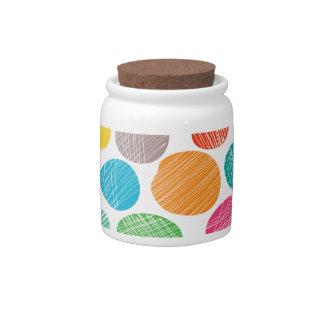 Fun colorful dots candy jars
