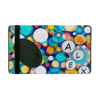 Fun Colorful Dots Pattern (Kids, Celebrations) iPad Cover
