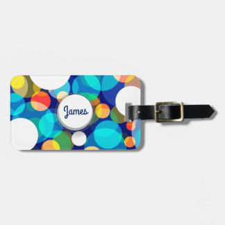 Fun Colorful Dots Pattern (Kids, Celebrations) Luggage Tag