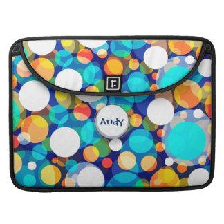 Fun Colorful Dots Pattern (Kids, Celebrations) MacBook Pro Sleeve