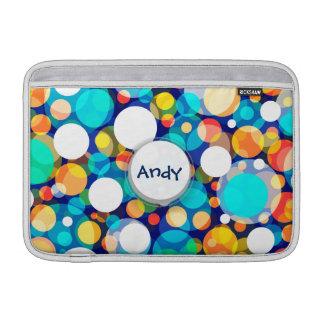 Fun Colorful Dots Pattern (Kids, Celebrations) MacBook Sleeve