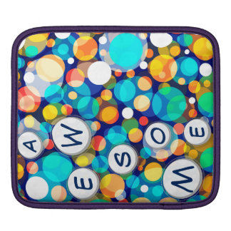 Fun Colorful Dots Pattern (Kids, Celebrations) Sleeve For iPads