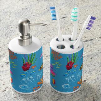Fun Colorful Fish Ocean Kids Pattern Soap Dispenser